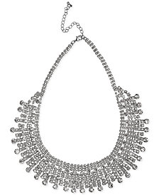 Nina Silver-Tone Crystal Cup Chain Drama Necklace