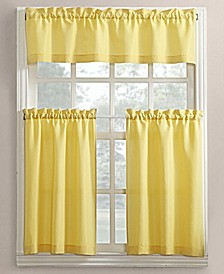 No. 918 Martine 3-Pc. Microfiber Rod Pocket Kitchen Curtain Set