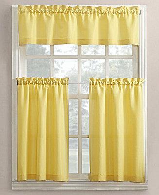 Lichtenberg No 918 Martine 3 Pc Microfiber Rod Pocket Kitchen Curtain Set Amp Reviews