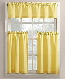 Lichtenberg No. 918 Martine 3-Pc. Microfiber Rod Pocket Kitchen Curtain Set
