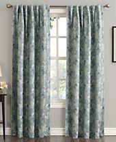 "Sun Zero Mayfield 54"" x 63"" Floral Blackout Rod Pocket Curtain Panel"