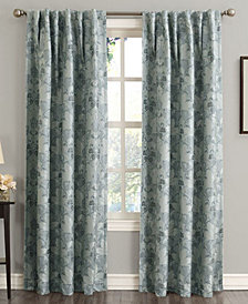 "Sun Zero Mayfield 54"" x 84"" Floral Blackout Rod Pocket Curtain Panel"