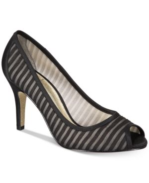 Image of Adrianna Papell Flirt Peep-Toe Evening Pumps Women's Shoes