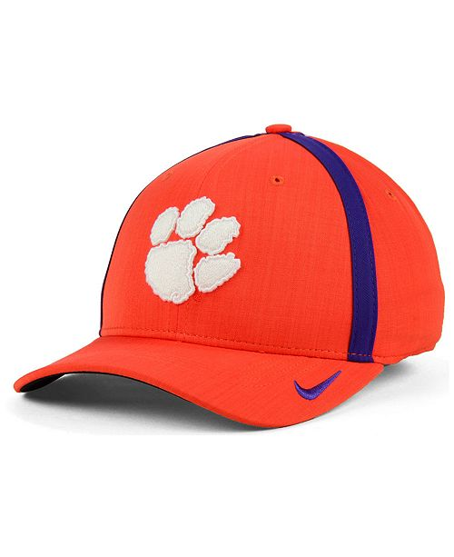 ad0d5caf8c912 Nike. Clemson Tigers Aerobill Classic Sideline Swoosh Flex Cap. Be the  first to Write a Review. main image ...