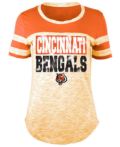 5th & Ocean Women's Cincinnati Bengals Space Dye Foil T-Shirt