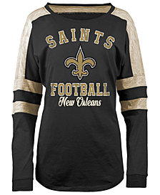 5th & Ocean Women's New Orleans Saints Space Dye Long Sleeve T-Shirt