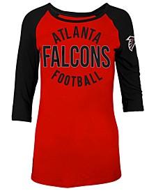 Women's Atlanta Falcons Rayon Raglan T-Shirt