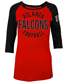 5th & Ocean Women's Atlanta Falcons Rayon Raglan T-Shirt