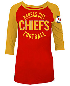 5th & Ocean Women's Kansas City Chiefs Rayon Raglan T-Shirt