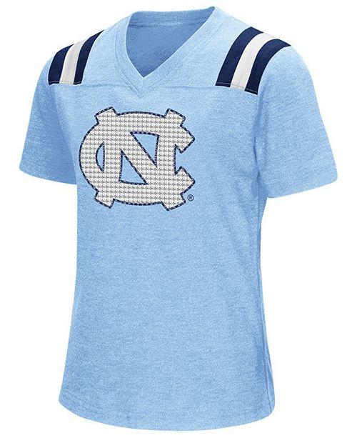 Colosseum Girls' North Carolina Tar Heels Rugby T-Shirt