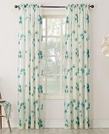 "Bimini Textured Floral 51"" x 63"" Sheer Curtain Panel"