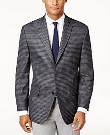 CLOSEOUT! Michael Kors Men's Classic-Fit Gray Check Sport Coat
