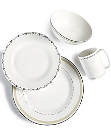 kate spade new york Dinnerware, Union Square Taupe Collection