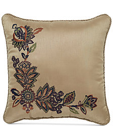 "CLOSEOUT! Croscill Callisto  16"" Square Decorative Pillow"