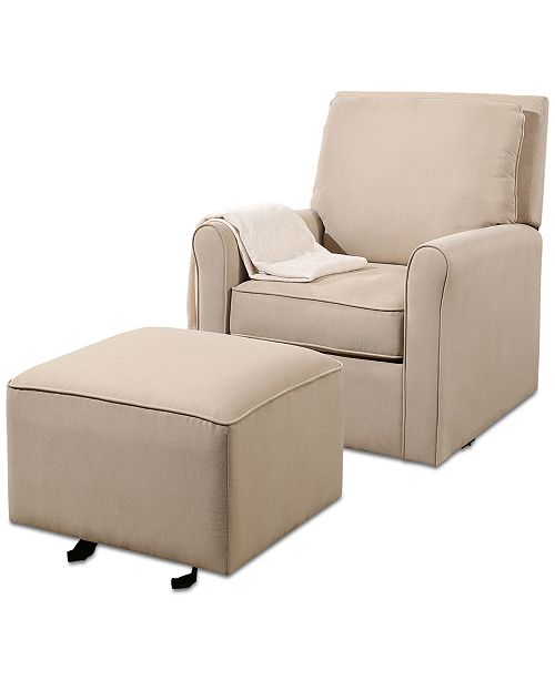 Furniture Templen Glider Chair and Ottoman, Quick Ship