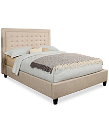 Annie Tufted Platform Bed - Full, Quick Ship
