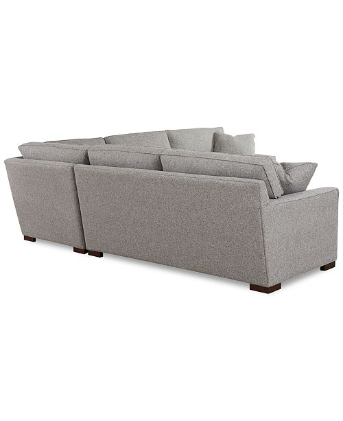 """Macys Furniture Outlet Columbus: Furniture Carena 3-Pc. Fabric """"L"""" Shaped Sectional"""