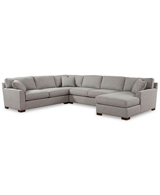 Furniture Carena 4 Pc Fabric Sectional Sofa With Chaise Created