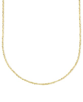 "14k Gold Necklace, 20"" Perfectina Chain (1-1/8mm)"