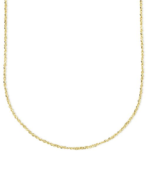 "Italian Gold 14k Gold Necklace, 20"" Perfectina Chain (1-1/4mm)"