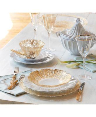 Rufolo Glass Gold Organic Large Bowl