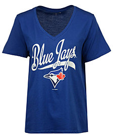 5th & Ocean Women's Toronto Blue Jays Baseball Baby T-Shirt