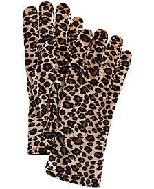 Cejon Animal-Print Velvet Gloves