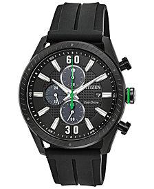 Citizen Drive from Citizen Eco-Drive Men's Chronograph Black Polyurethane Strap Watch 43mm