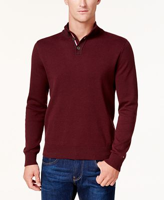 Tommy Hilfiger Men's Textured Polo Sweater, Created for Macy's