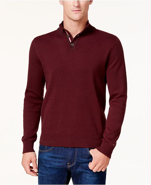 cc131cd9129 Tommy Hilfiger. Men s Textured Polo Sweater