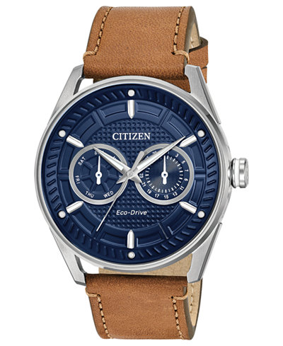 Citizen Drive from Citizen Eco-Drive Men's Brown Leather Strap Watch 42mm