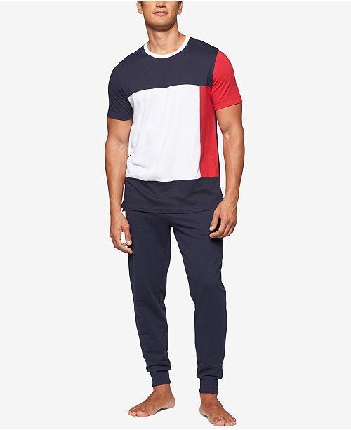 2491b81fe3 ... Tommy Hilfiger Men's Modern Essentials Colorblocked Cotton T-Shirt ...