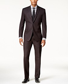 by Andrew Marc Men's Classic-Fit Black Micro-Grid Suit