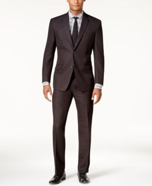 Marc New York by Andrew Marc Men's Classic-Fit Black Micro-Grid Suit thumbnail