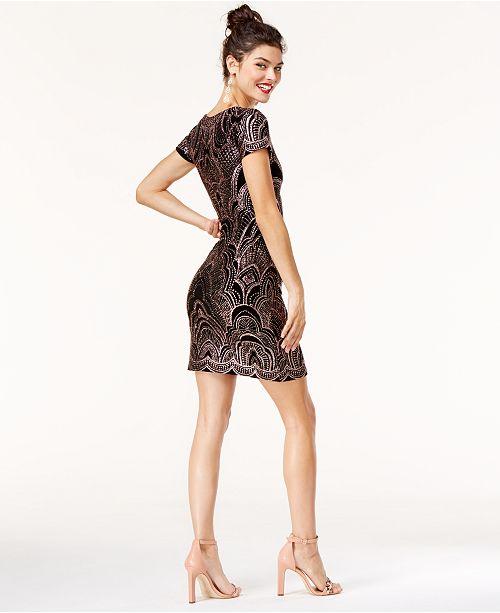 Shirt Printed Glitter Dress Black Jump Gold Juniors' T nOBBZq