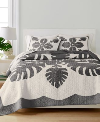 Maui Medallion Cotton Twin Quilt, Created for Macy's