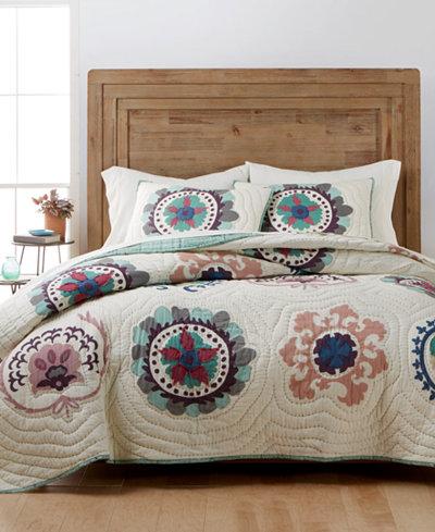 CLOSEOUT! Martha Stewart Collection Mystical Suzani Quilt & Sham ... : macys bedding quilts - Adamdwight.com