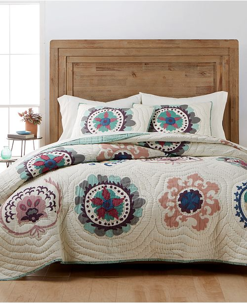 Martha Stewart Collection CLOSEOUT! Mystical Suzani Quilt & Sham Collection, Created for Macy's