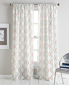 CHF Coco Ogee-Print Rod Pocket Window Panel Collection