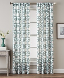 Lotus Harmony Textured Geo-Print Rod Pocket Window Panel Collection