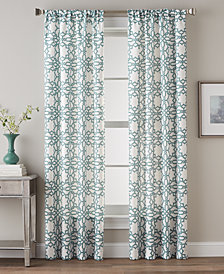 CHF Lotus Harmony Textured Geo-Print Rod Pocket Window Panel Collection