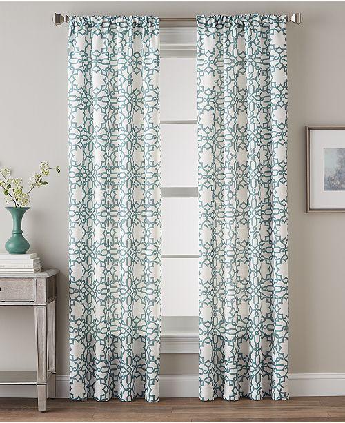 "CHF CLOSEOUT! Lotus Harmony 40"" x 95"" Geometric Print Curtain Panel"
