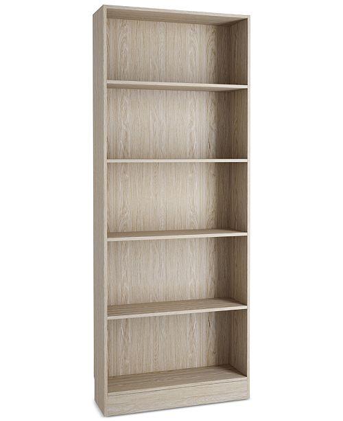 Tvilum Berkley 5-Shelf Bookcase, Quick Ship