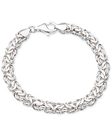 Byzantine Link Bracelet in Sterling Silver, Created for Macy's