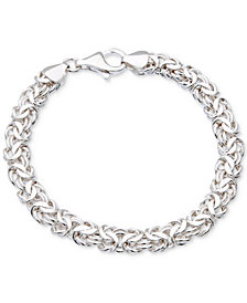 Giani Bernini Byzantine Link Bracelet in Sterling Silver, Created for Macy's