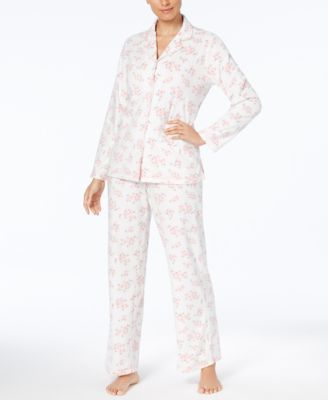 Image of Charter Club Printed Fleece Pajama Set, Created for Macy's