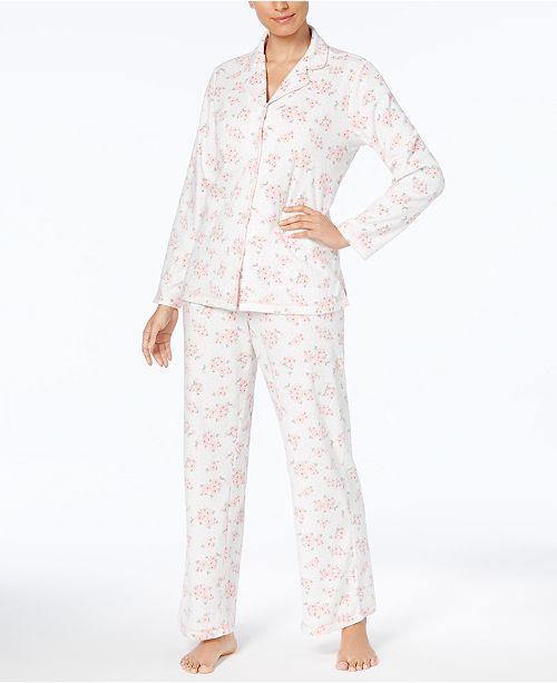 ae3f357d76e8 ... Charter Club Petite Printed Fleece Pajama Set