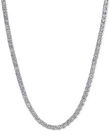 Giani Bernini Cubic Zirconia Sterling Silver Tennis Necklace, Created for Macy's