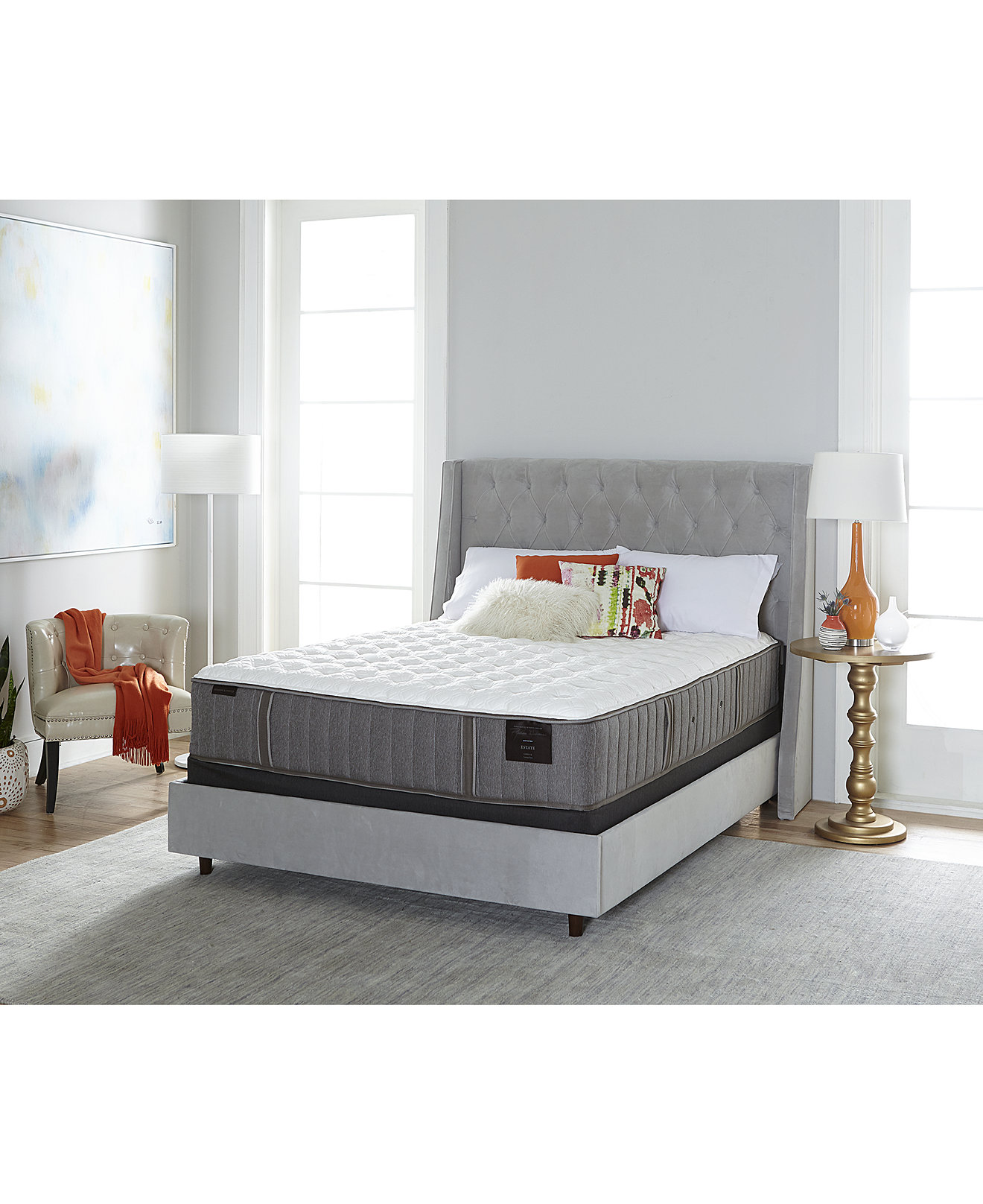 "Stearns & Foster Estate Garrick Luxury 14"" Firm Mattress Sets, Created for  Macy's"