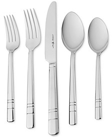 International Madison Square 65-Pc. 18/10 Stainless Steel Flatware Set, Service for 12